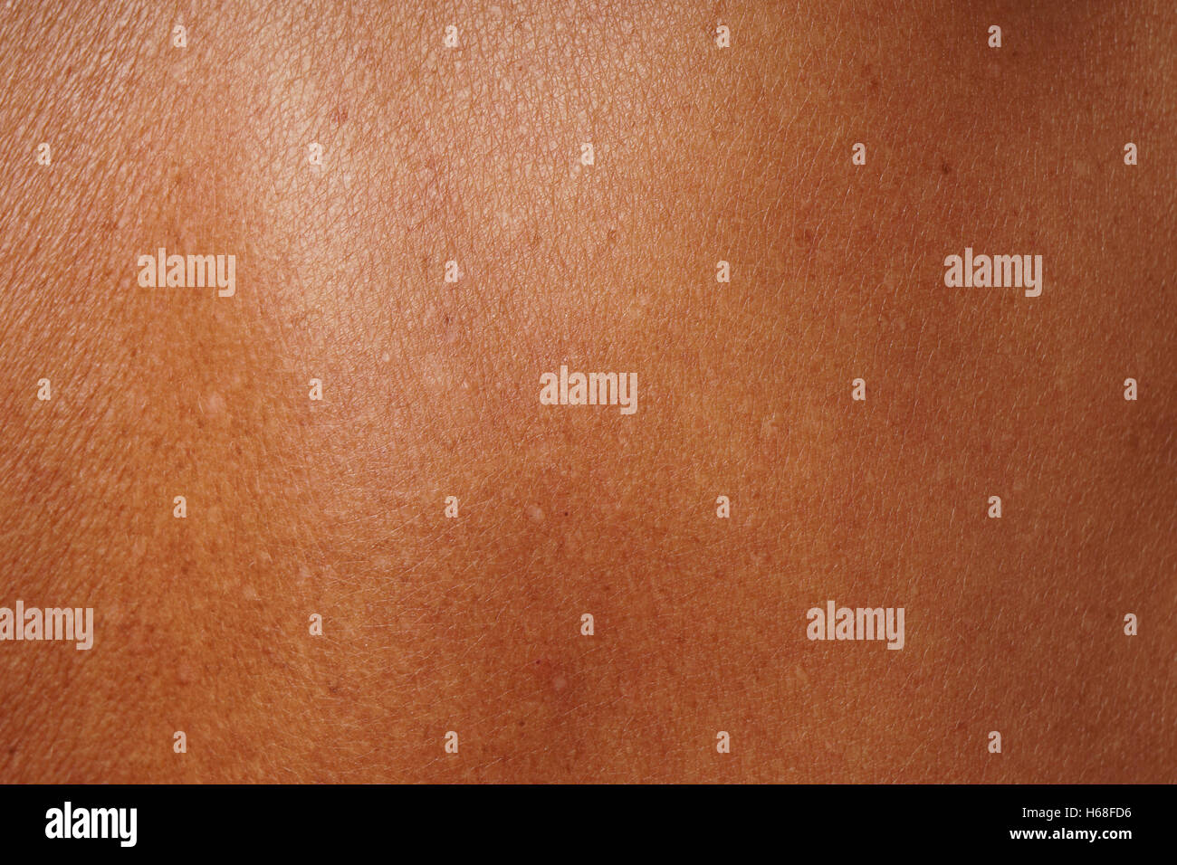 tanned mature skin - Stock Image