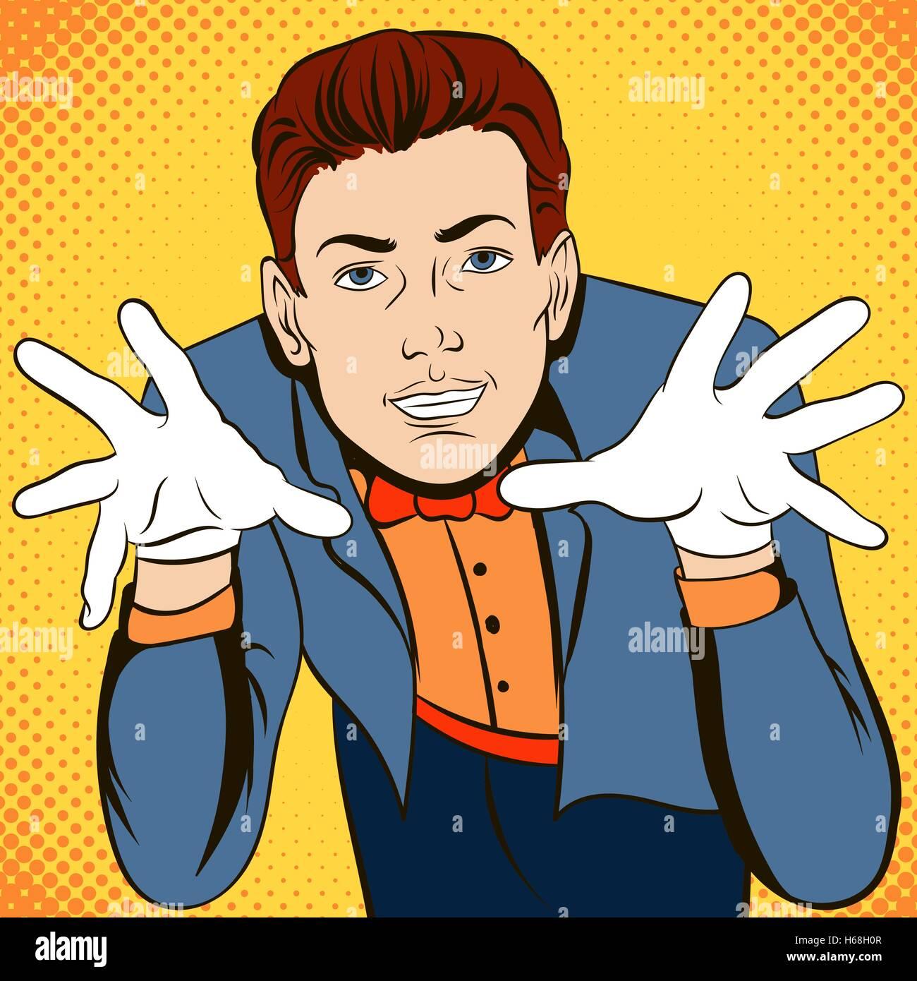 Hypnosis comics concept - Stock Image