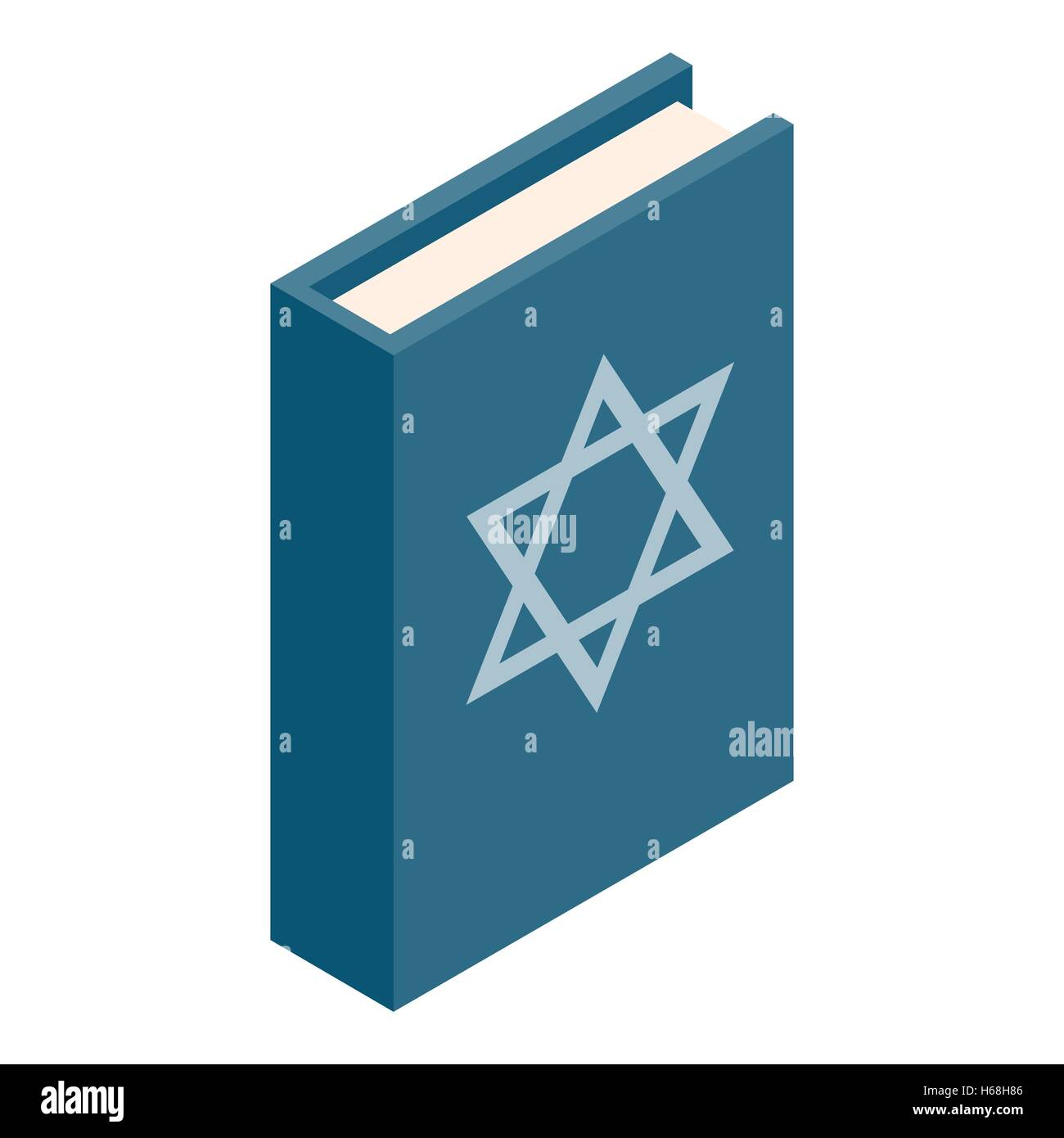 The Book of Judaism isometric 3d icon - Stock Image