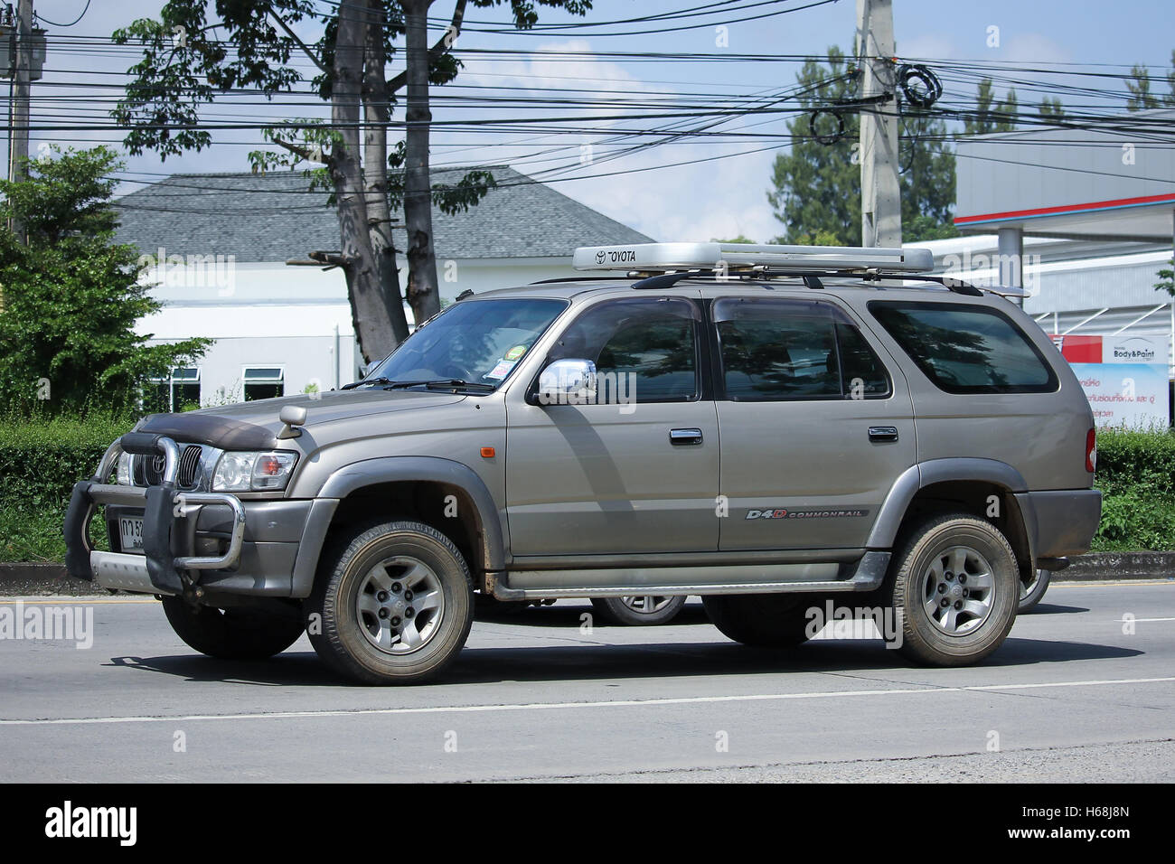 CHIANGMAI, THAILAND   OCTOBER 8 2016: Private Suv Car, Toyota Sport Rider.  On Road No.1001.