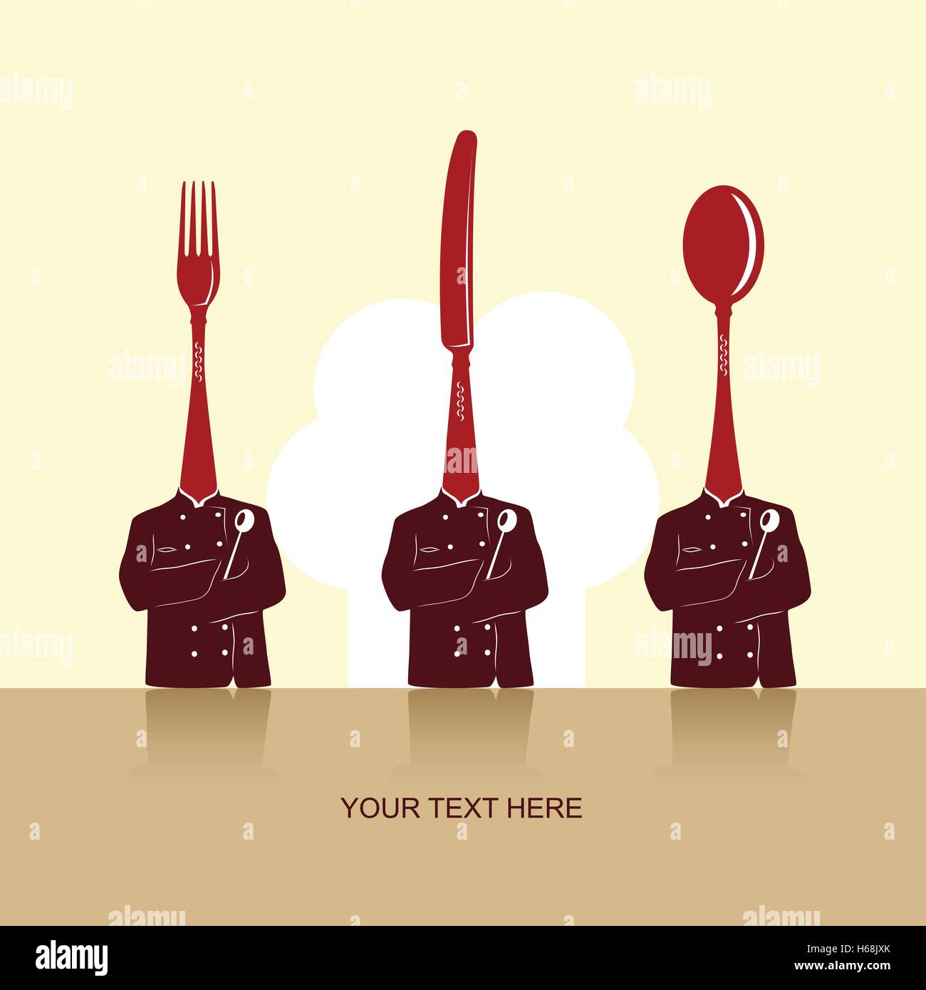 Culinary vector background for cards, menus, invitations