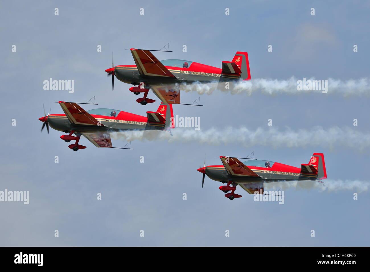 Royal Jordanian Falcons at the RIAT Fairford 2014 - Stock Image