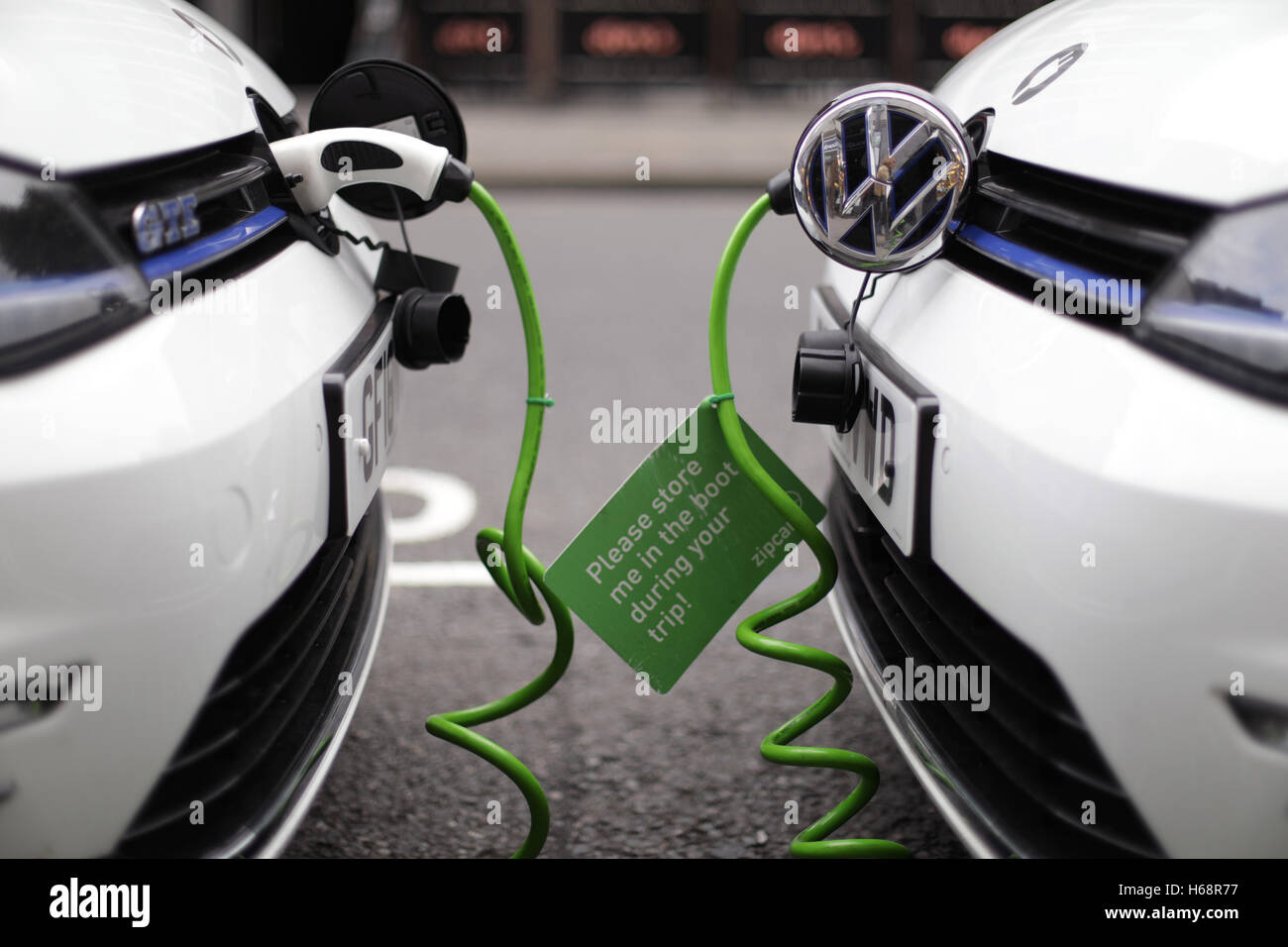 A Pair Of Zipcar Club Car Sharing Volkswagen Golf Gte Plug In Stock