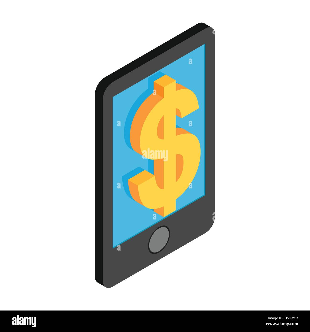 Smartphone with dollar on display - Stock Vector