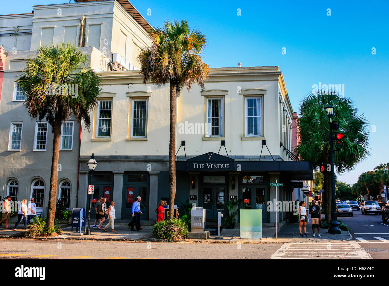 The Vendue Hotel at Vendue Range in Charleston, SC - Stock Image