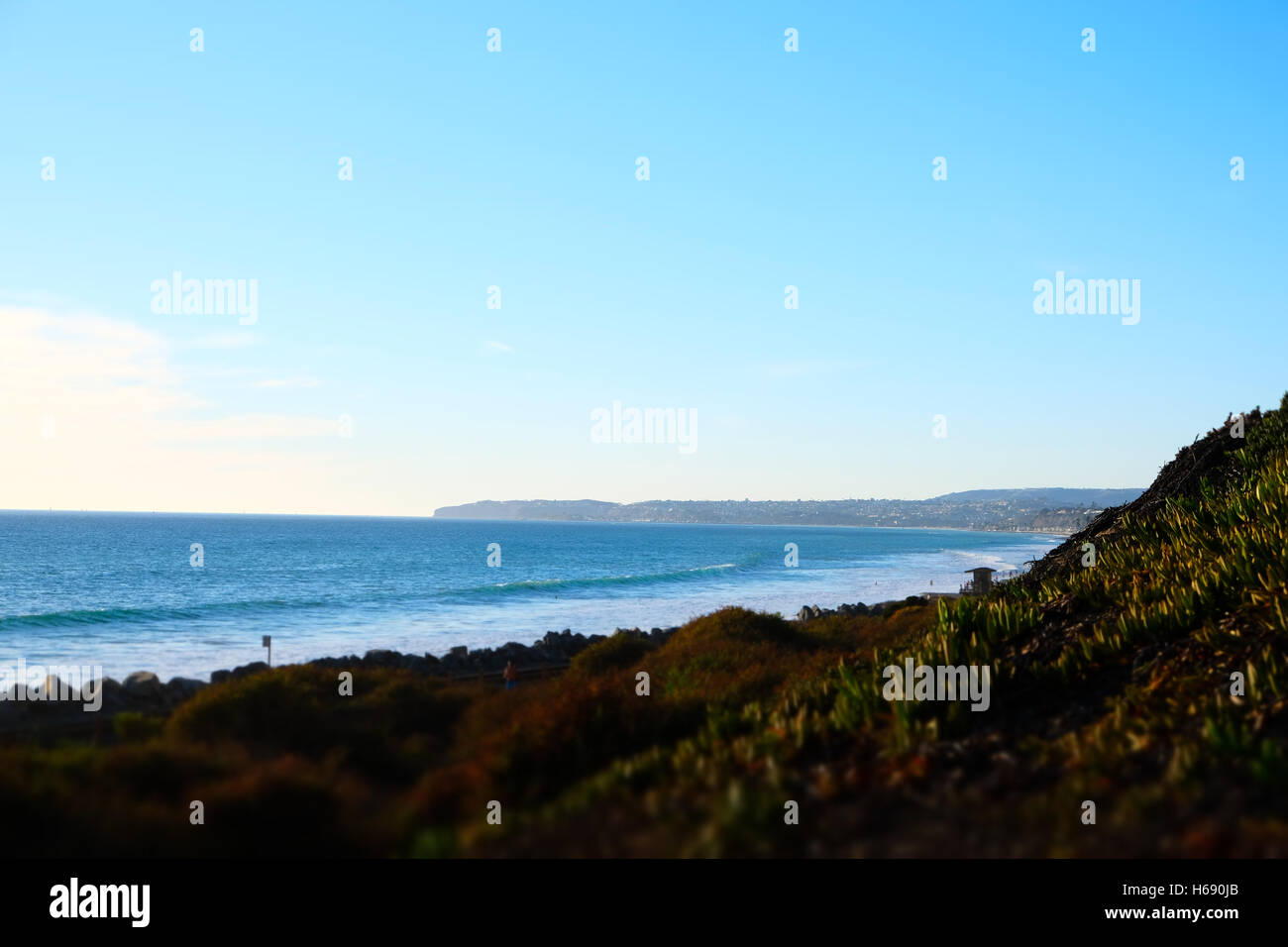 Beautiful day on the beach in san clemente Stock Photo