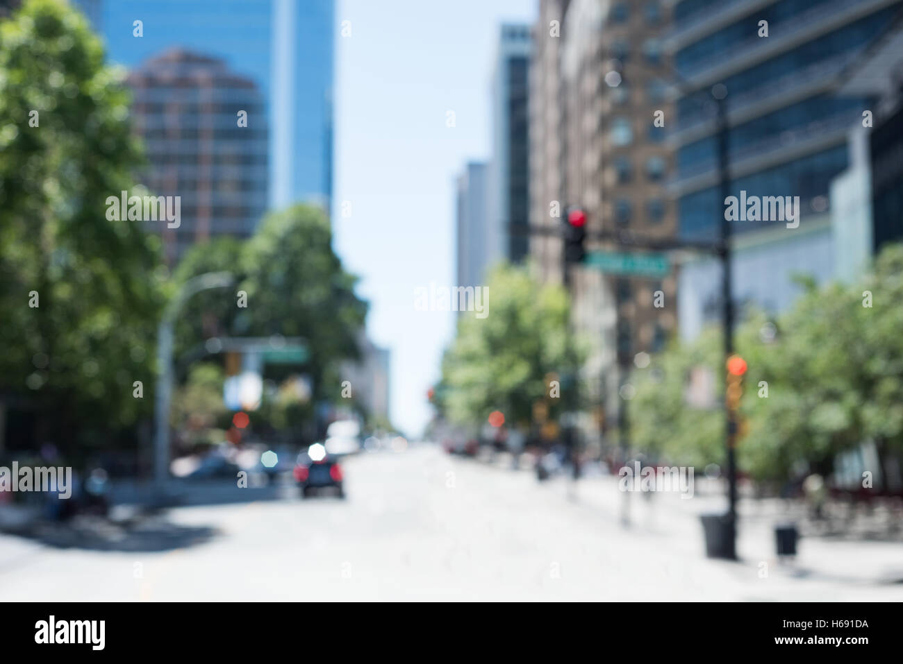 Blur view of a modern city - Stock Image
