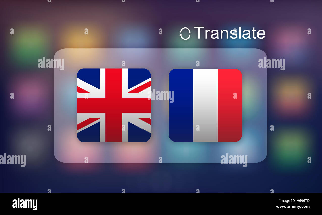 Flag Countries Foreign Word Translation Concept - Stock Image
