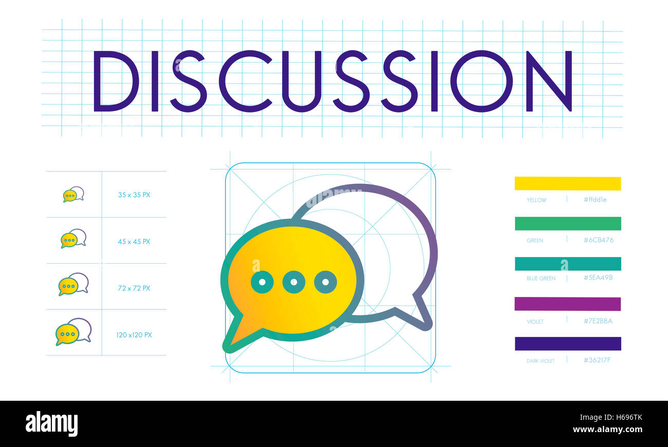 Discussion Trends Interact Connection Concept - Stock Image