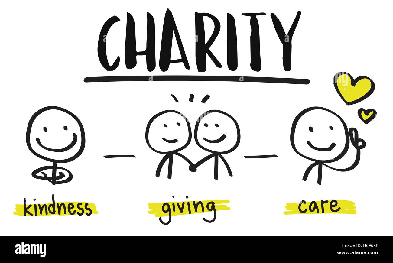 Charity Donations Fundraising Nonprofit Volunteer Concept - Stock Image