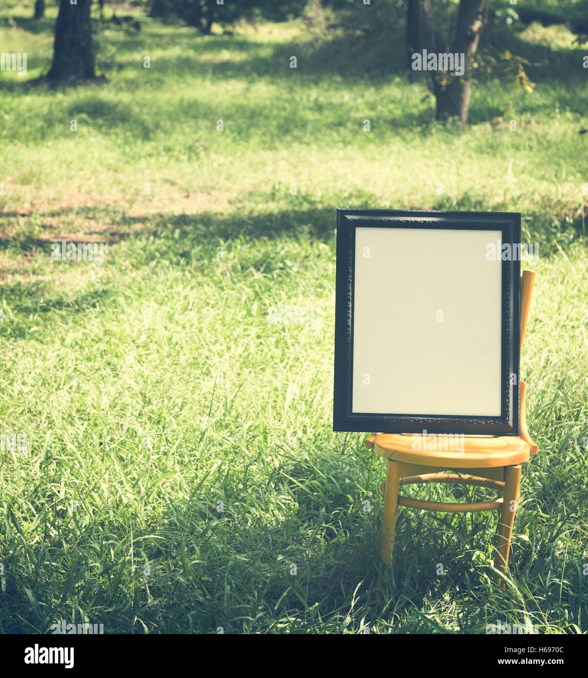 Frame Abstract Photo Picture Blank Empty Style Concept - Stock Image