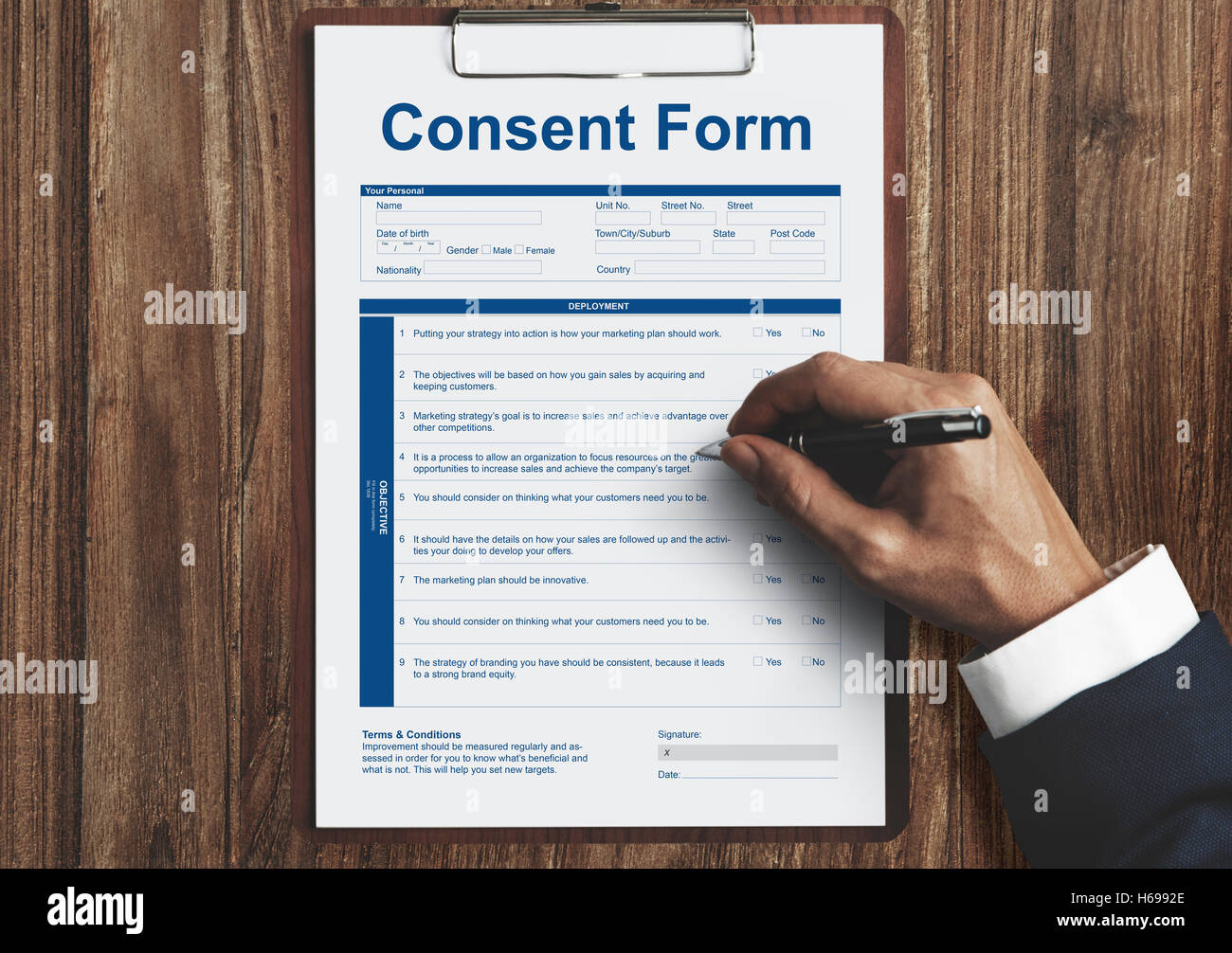 Consent Form Healthcare Medical Hospital Concept Stock Photo