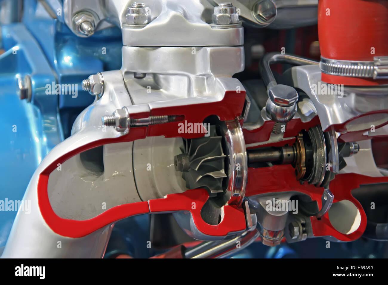 Automobile gearbox part. Car gearbox part. Mechanic part of a automobile. - Stock Image
