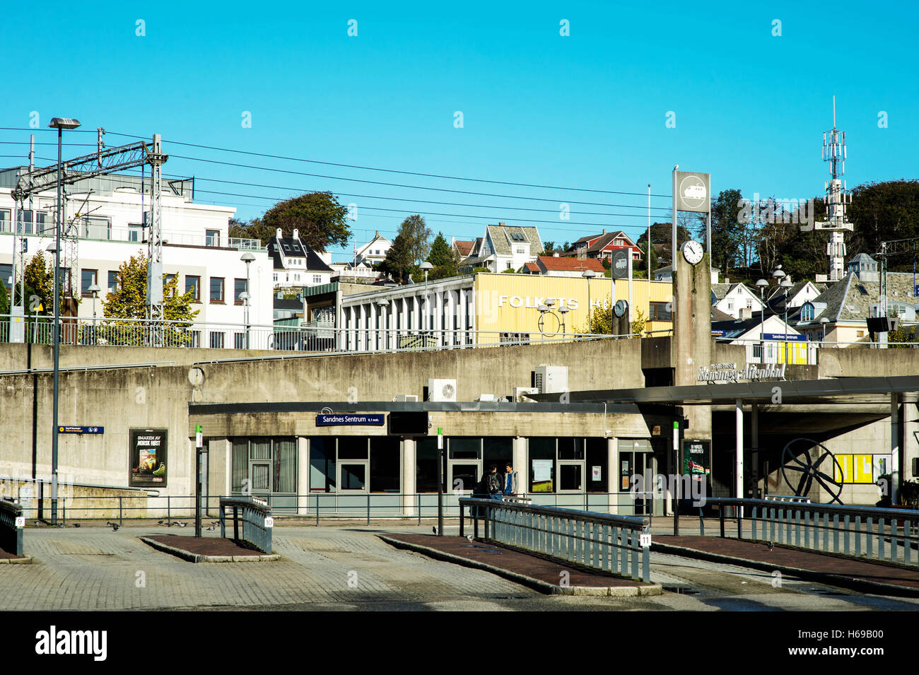 Sandnes Norway Central Town Bus or Coach Station - Stock Image