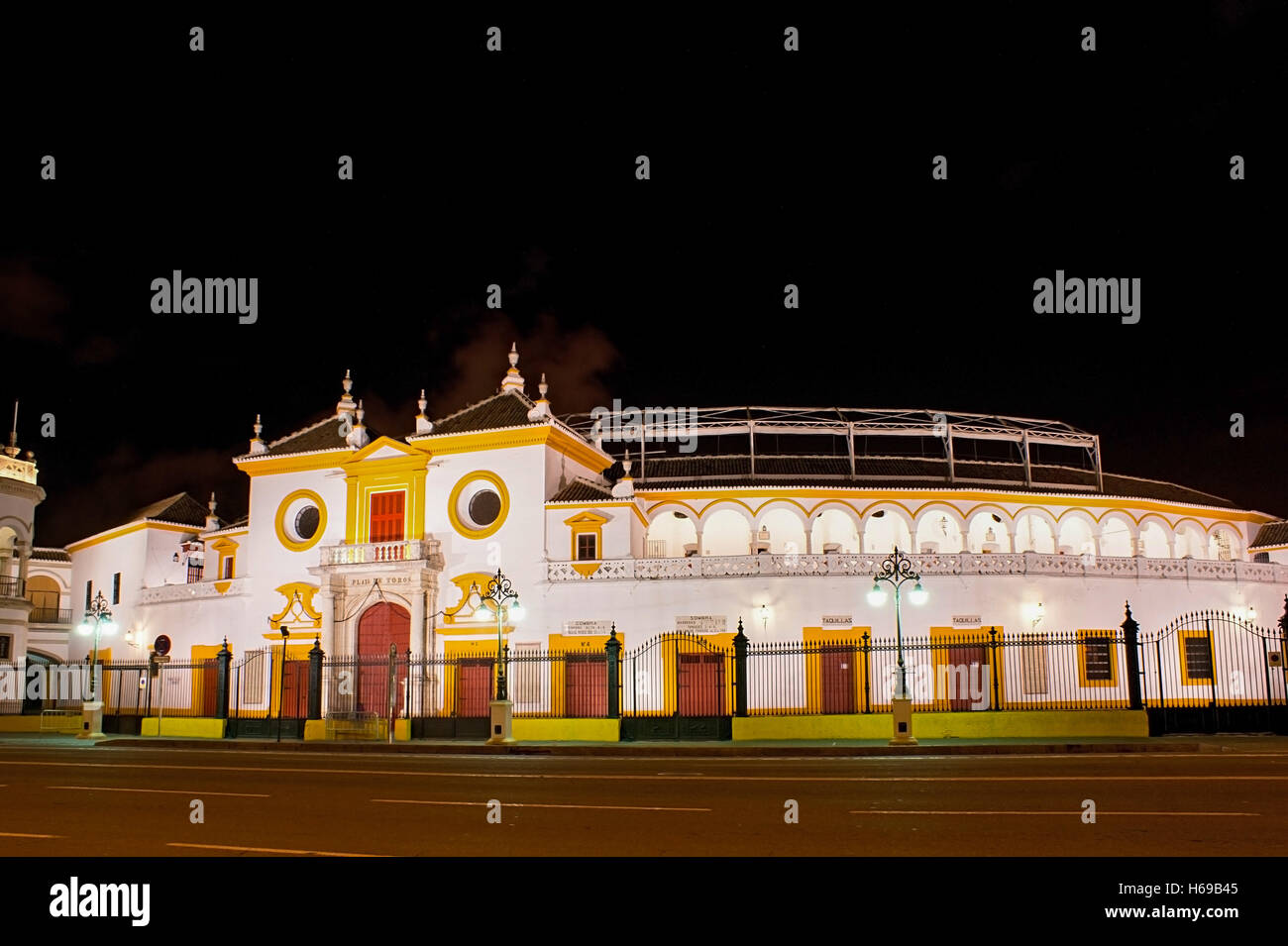 The Plaza de Toros de la Real Maestranza is the famous arena for bullfights - Stock Image