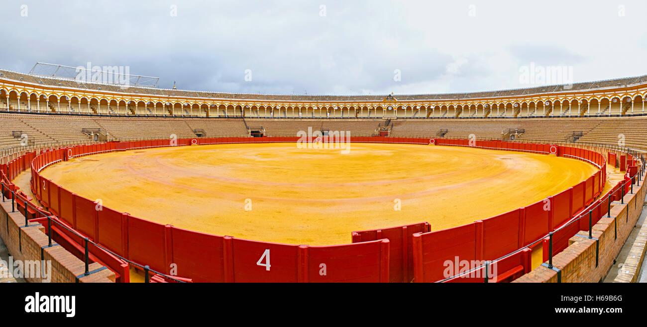 Plaza de toros de la Real Maestranza de Caballeria - Stock Image
