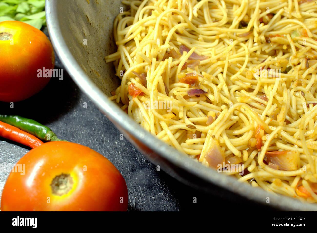 Veg Noodles / Veg Chow-min Stock Photo