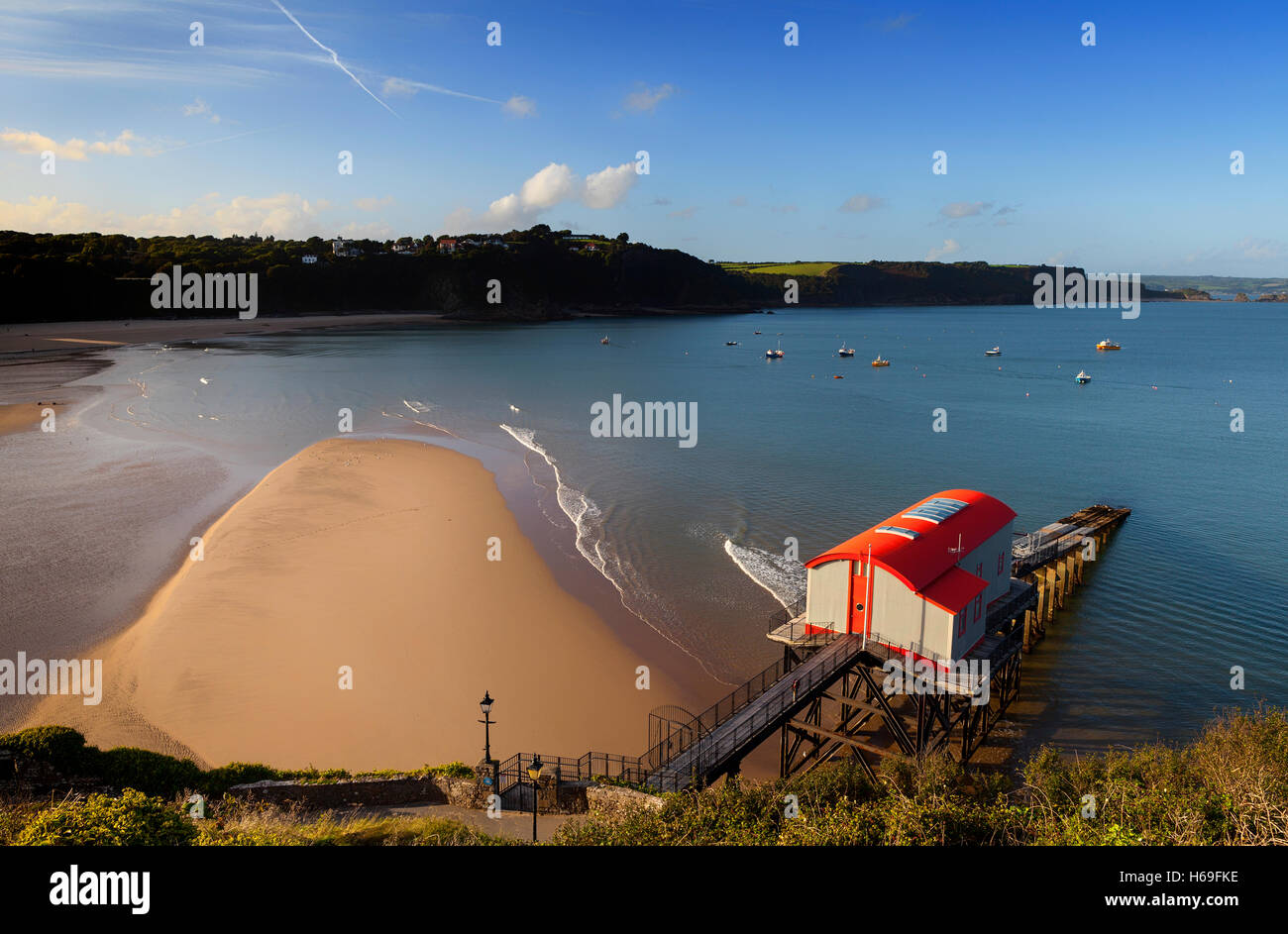 The old Lifeboat Station in Tenby, Pembrokeshire, Wales, Featured in UK Channel 4 program,  'Grand Designs', - Stock Image