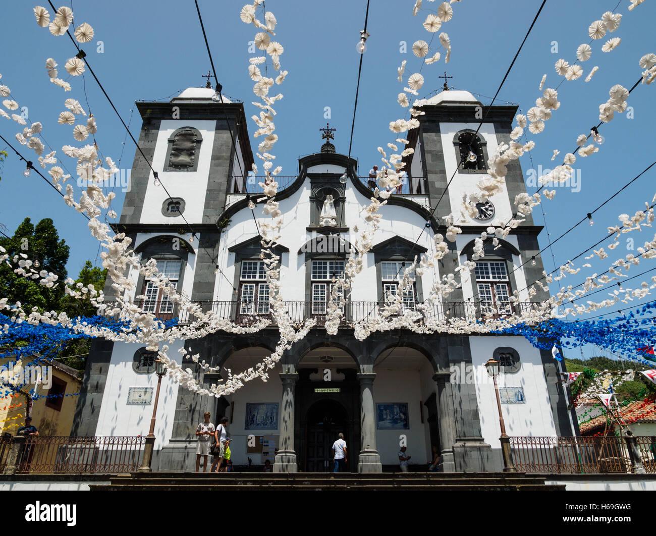 The Monte Church Igreja De Nossa Senhora Do Monte on the Portuguese island of Madeira - Stock Image