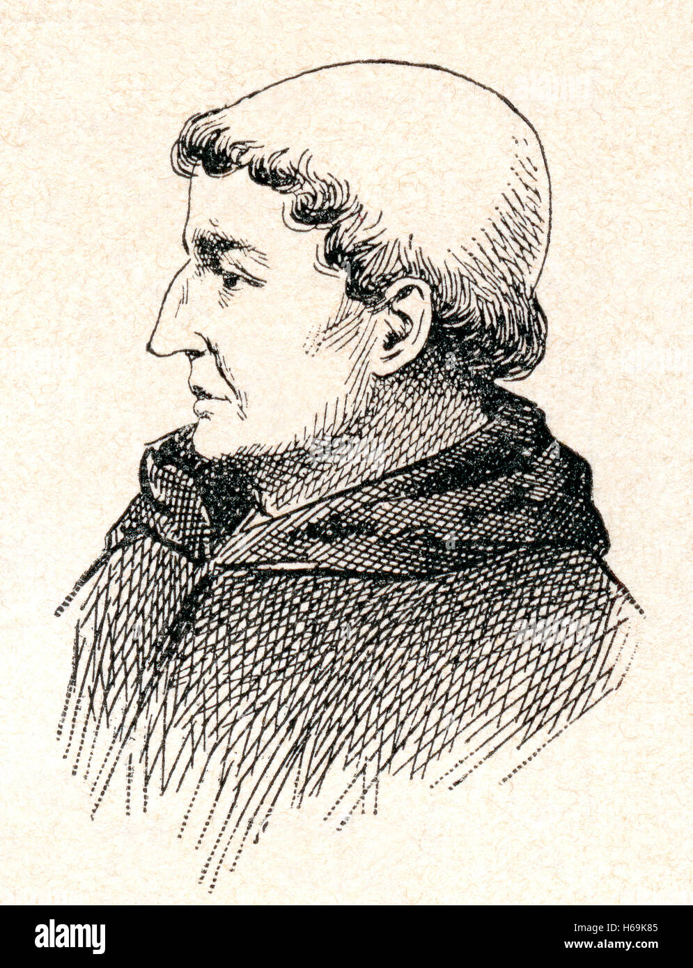 John Duns, aka Duns Scotus, c. 1266 – 1308.  Important philosopher-theologian of the High Middle Ages. - Stock Image