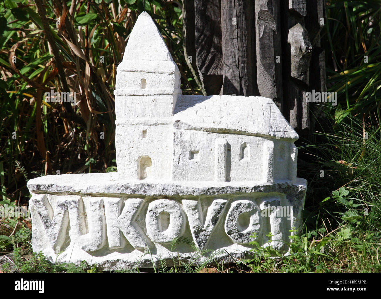 Naive sculptures,Vukovoj,Croatia,Europe,4 - Stock Image