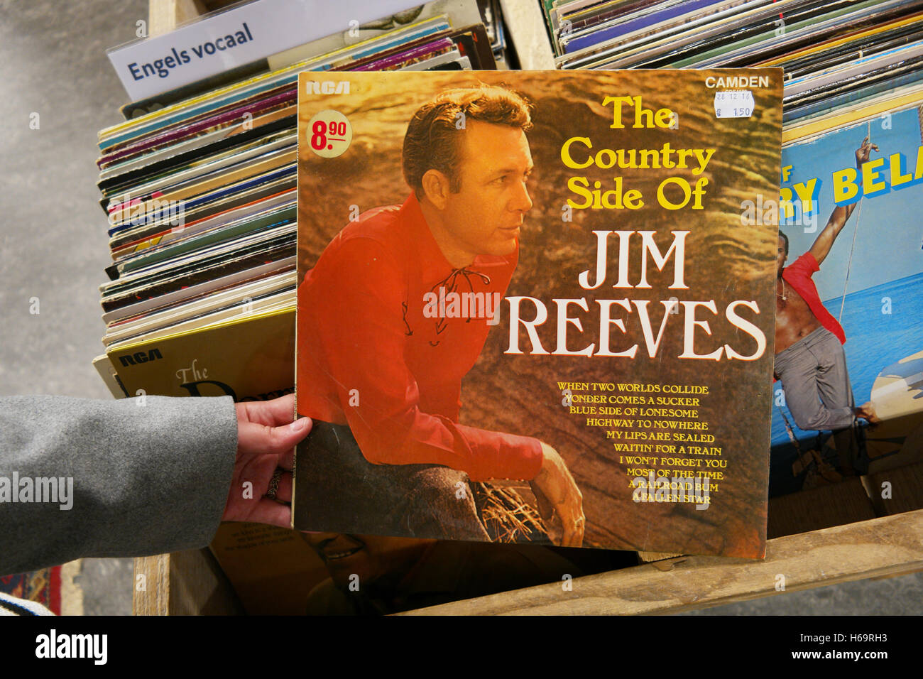 A 1962 Album: The Country Side Of Jim Reeves - Stock Image