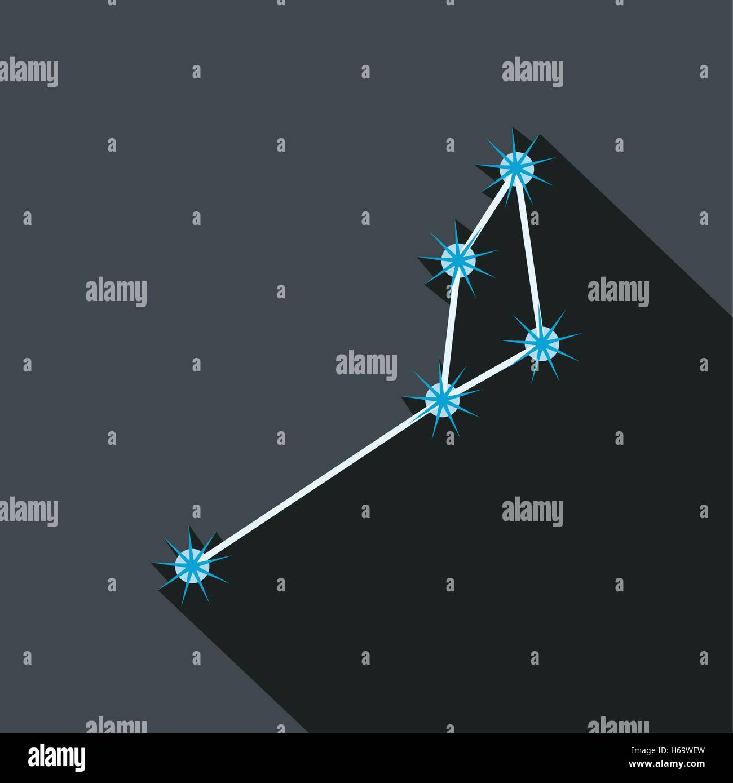 Constellation large icon - Stock Image