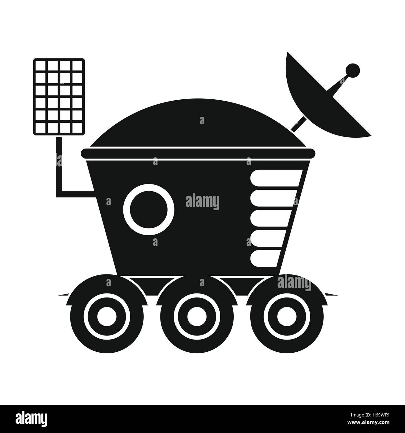 Moonwalker black simple icon Stock Vector