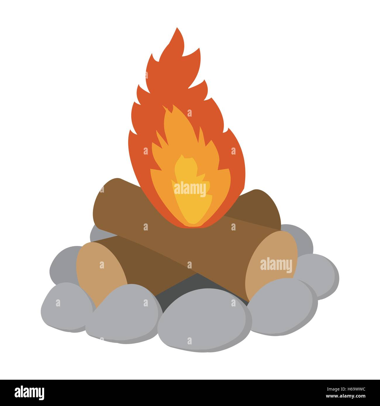 campfire cartoon icon stock vector art illustration vector image rh alamy com campfire cartoon images campfire cartoon gif