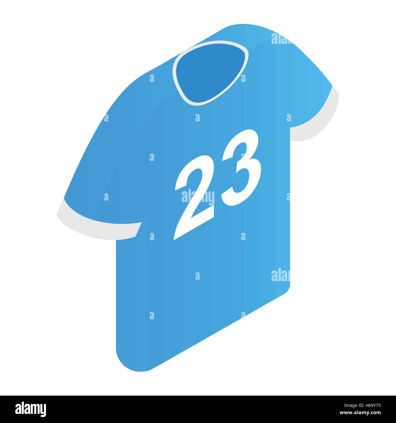 The sports t-shirt with the number 23 icon - Stock Vector