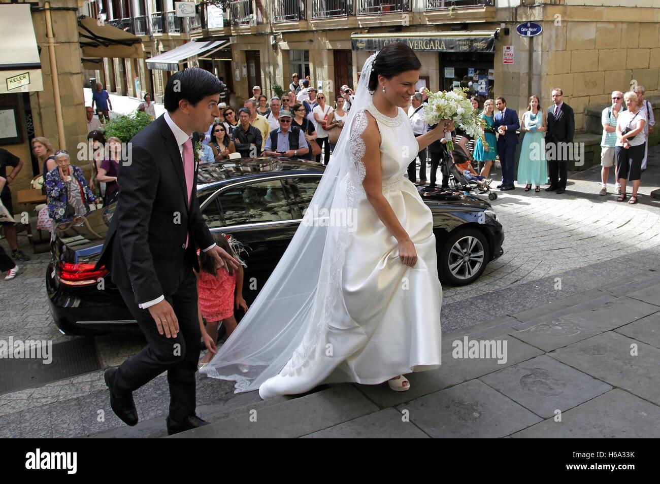 Spanish wedding San Sebastian Donostia Spain - Stock Image