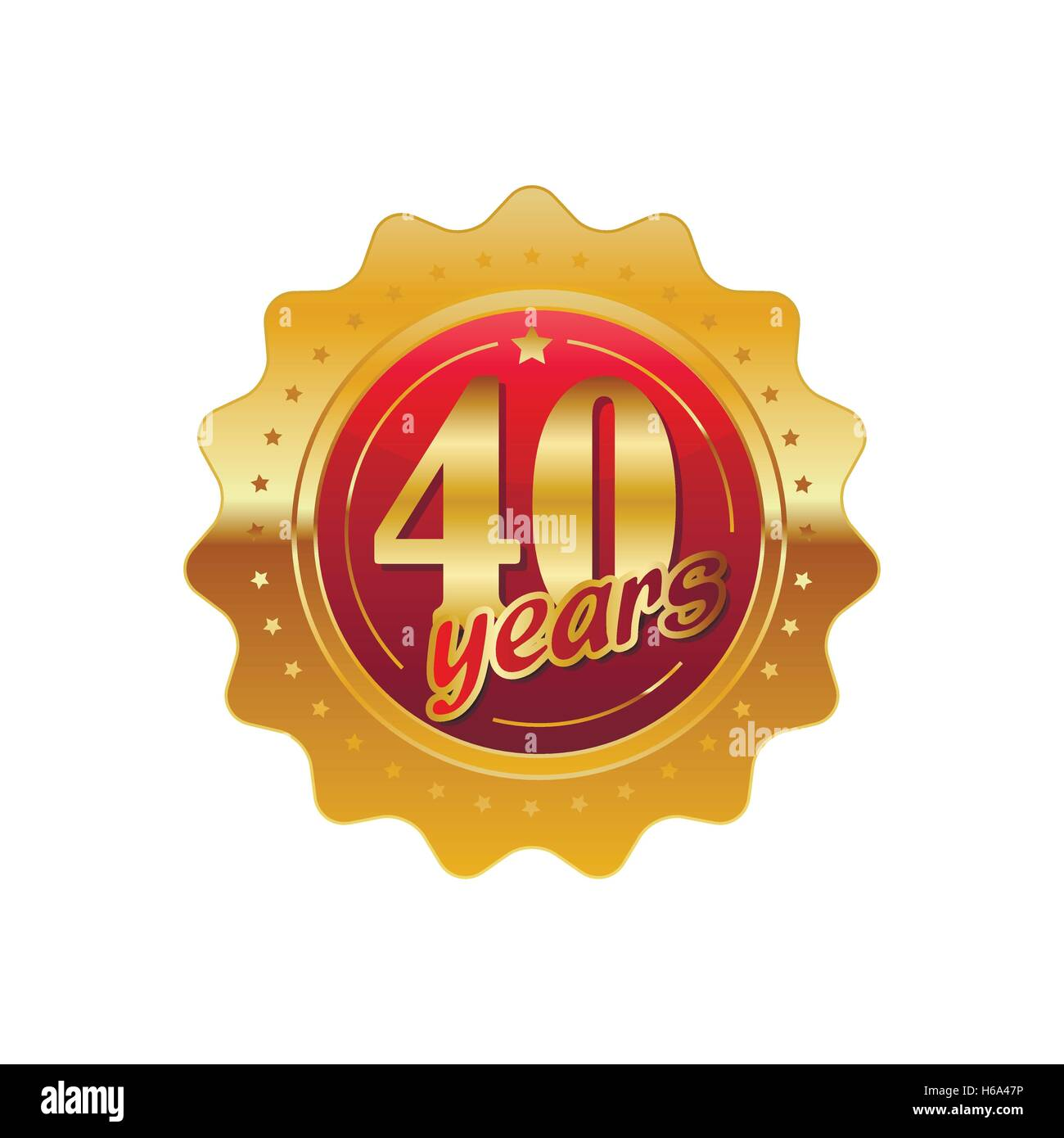 Wedding Anniversary 40th Stock Vector Images - Alamy