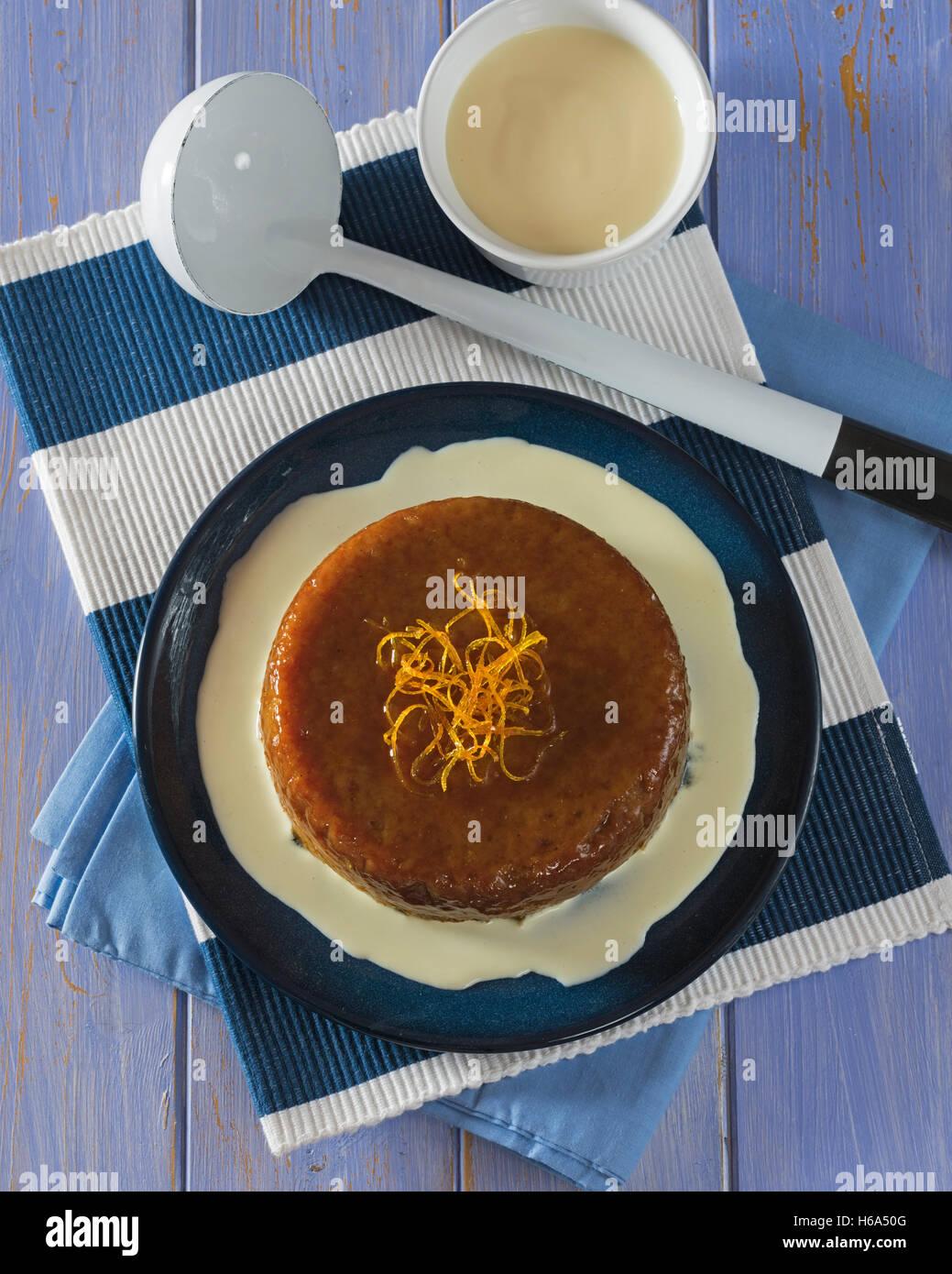 Malva pudding. South African dessert. - Stock Image