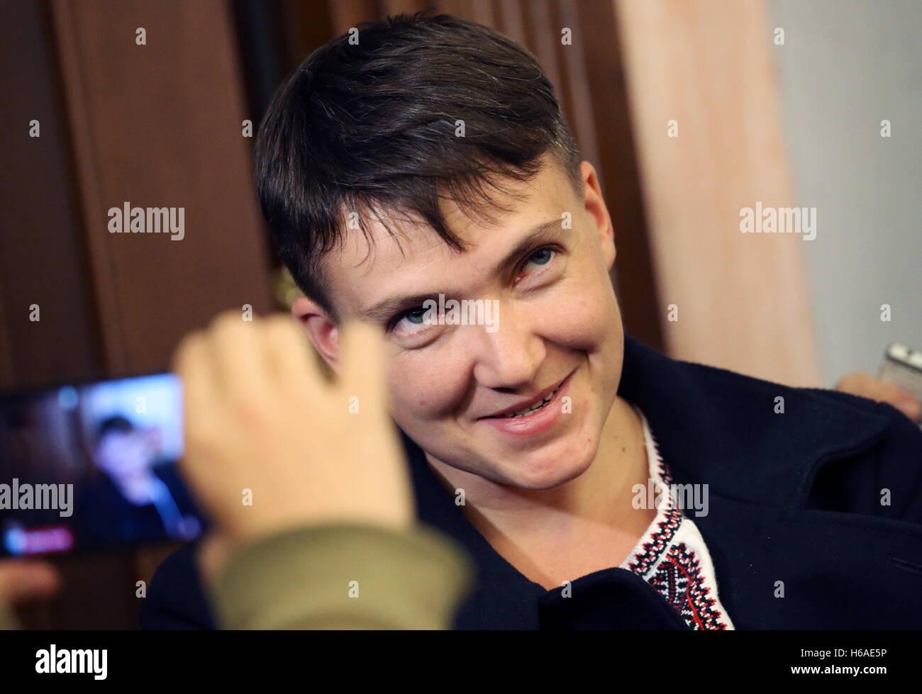 Moscow, Russia. 26th Oct, 2016. Ukraine's Verkhovna Rada member Nadezhda Savchenko attends Russia's Supreme Court Stock Photo