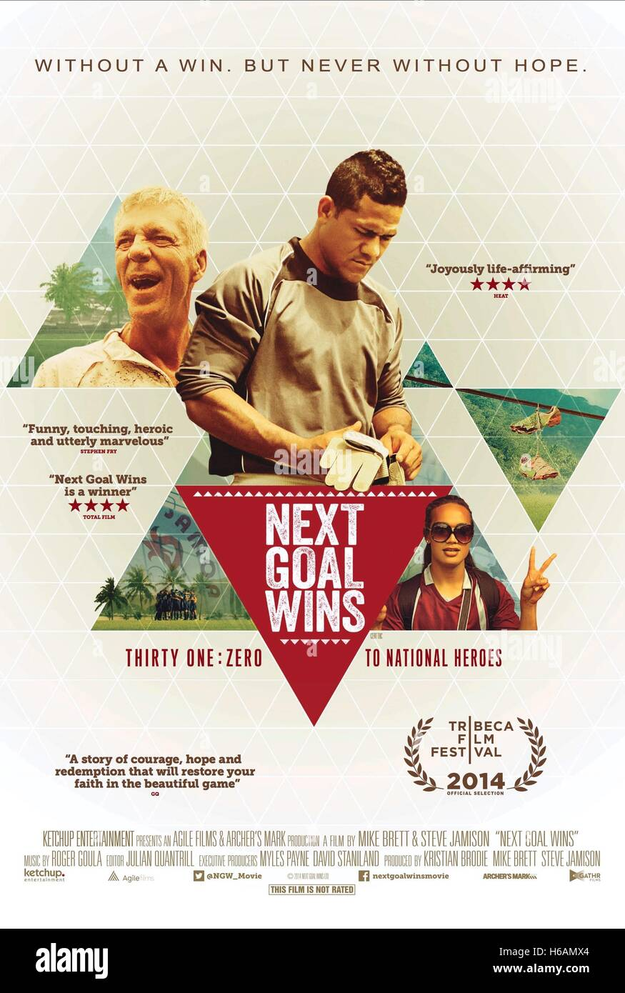 MOVIE POSTER NEXT GOAL WINS (2014) - Stock Image