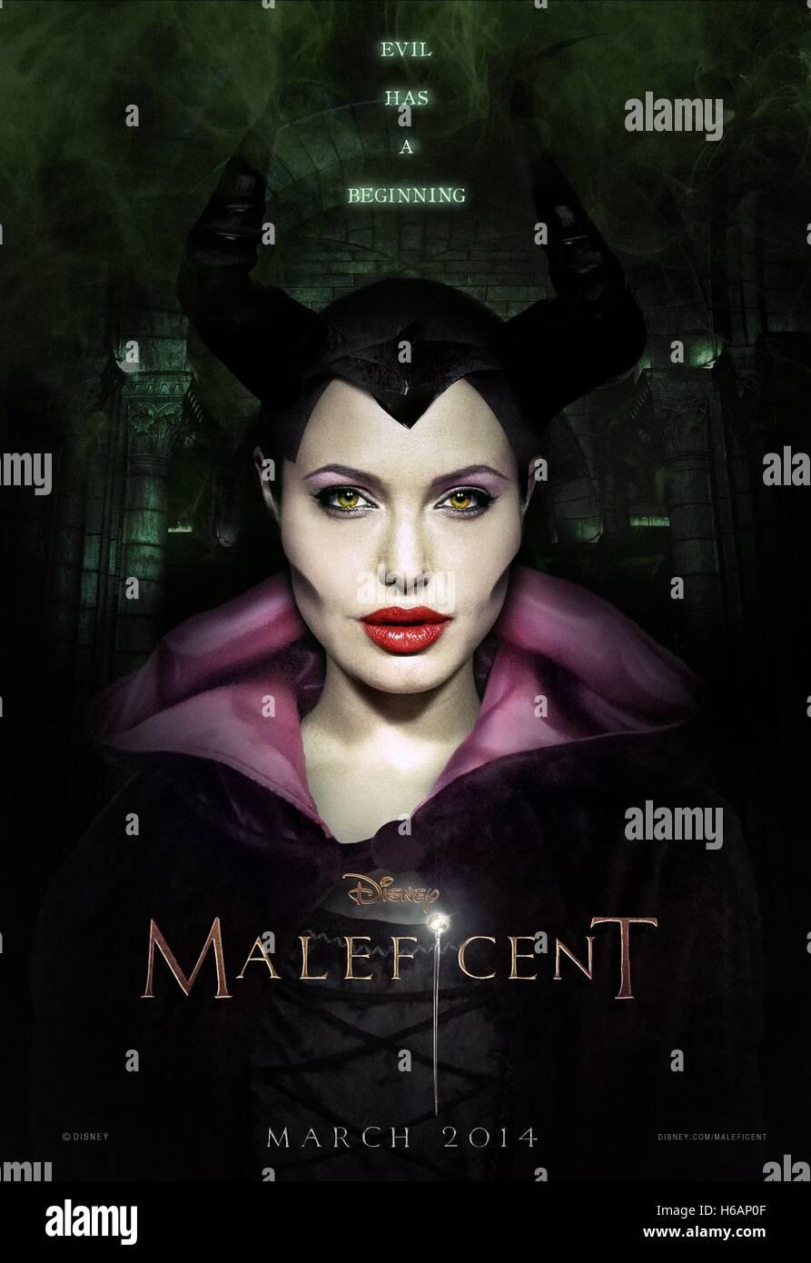 Angelina Jolie Poster Maleficent 2014 Stock Photo