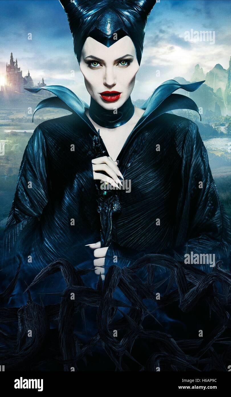Angelina Jolie Maleficent 2014 Stock Photo Alamy