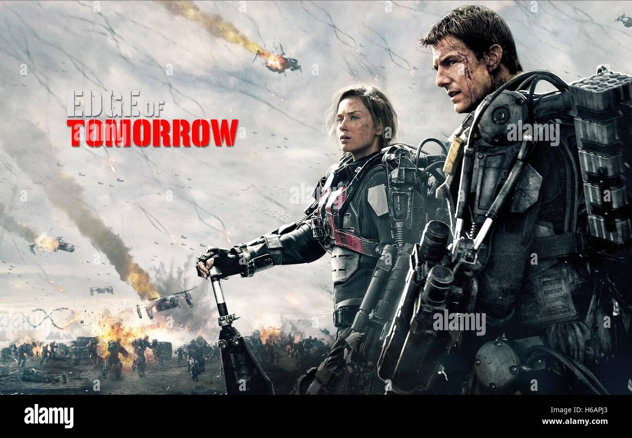 Emily Blunt Tom Cruise Poster Edge Of Tomorrow 2014 Stock Photo Alamy
