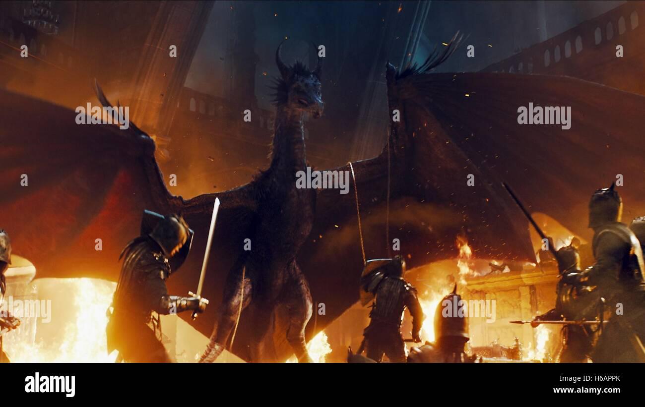 Dragon Scene Maleficent 2014 Stock Photo 124397915 Alamy
