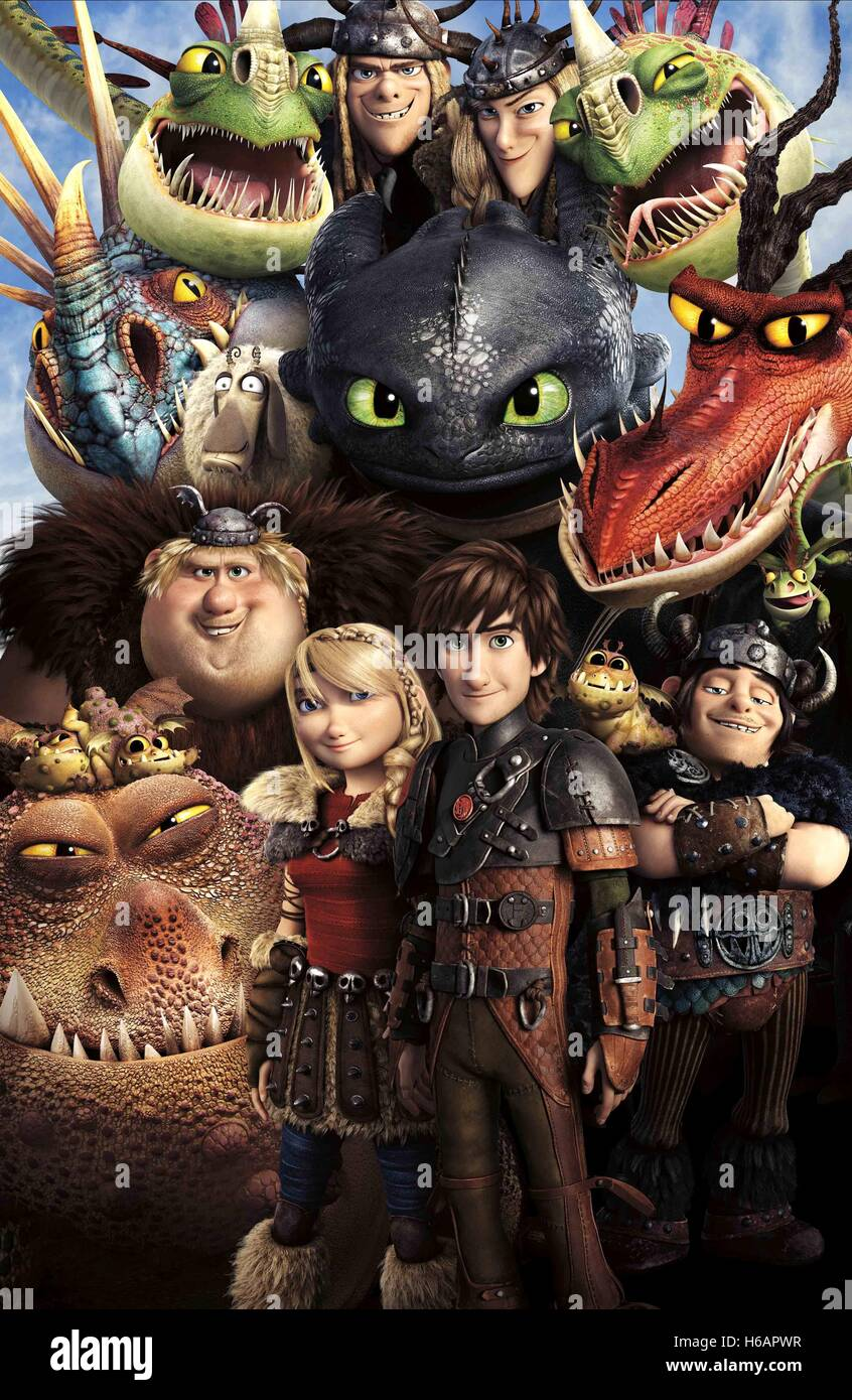 Astrid Hiccup How To Train Your Dragon 2 2014 Stock Photo Alamy