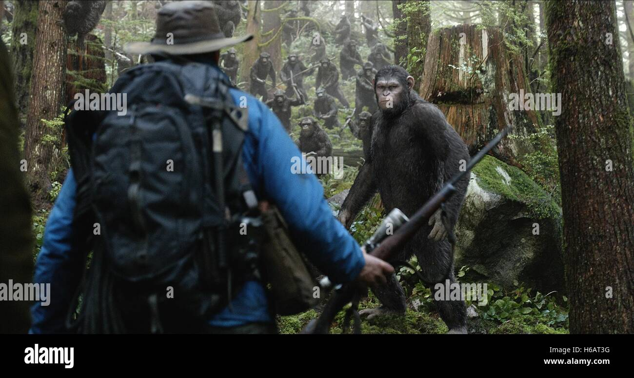 Caesar Dawn Of The Planet Of The Apes 2014 Stock Photo Alamy