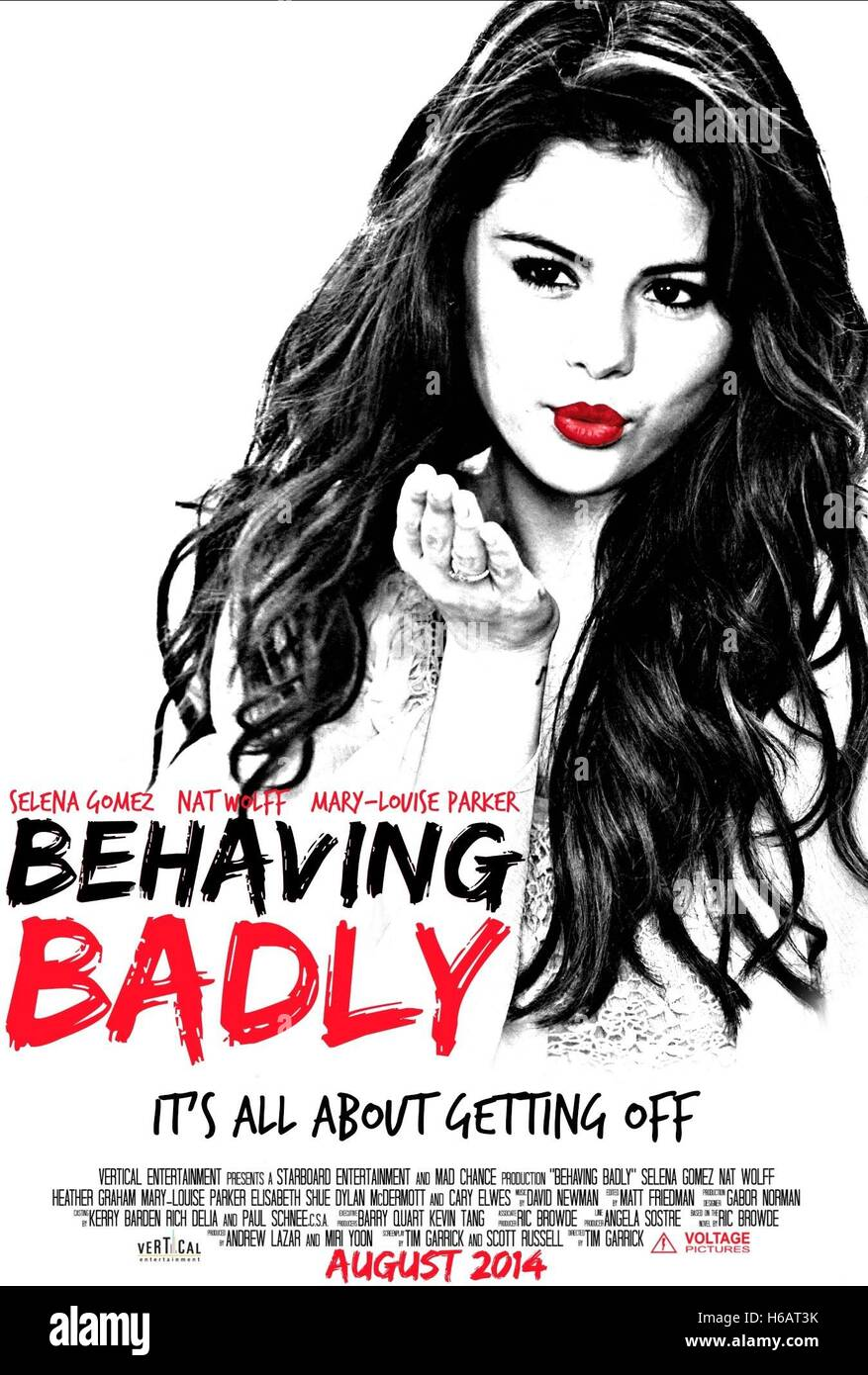 SELENA GOMEZ POSTER BEHAVING BADLY (2014) - Stock Image