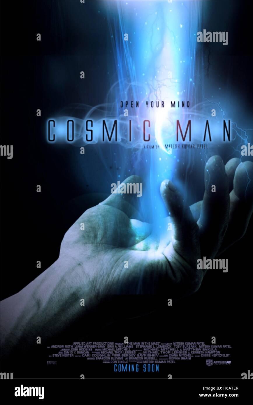 MOVIE POSTER COSMIC-MAN (2014) - Stock Image