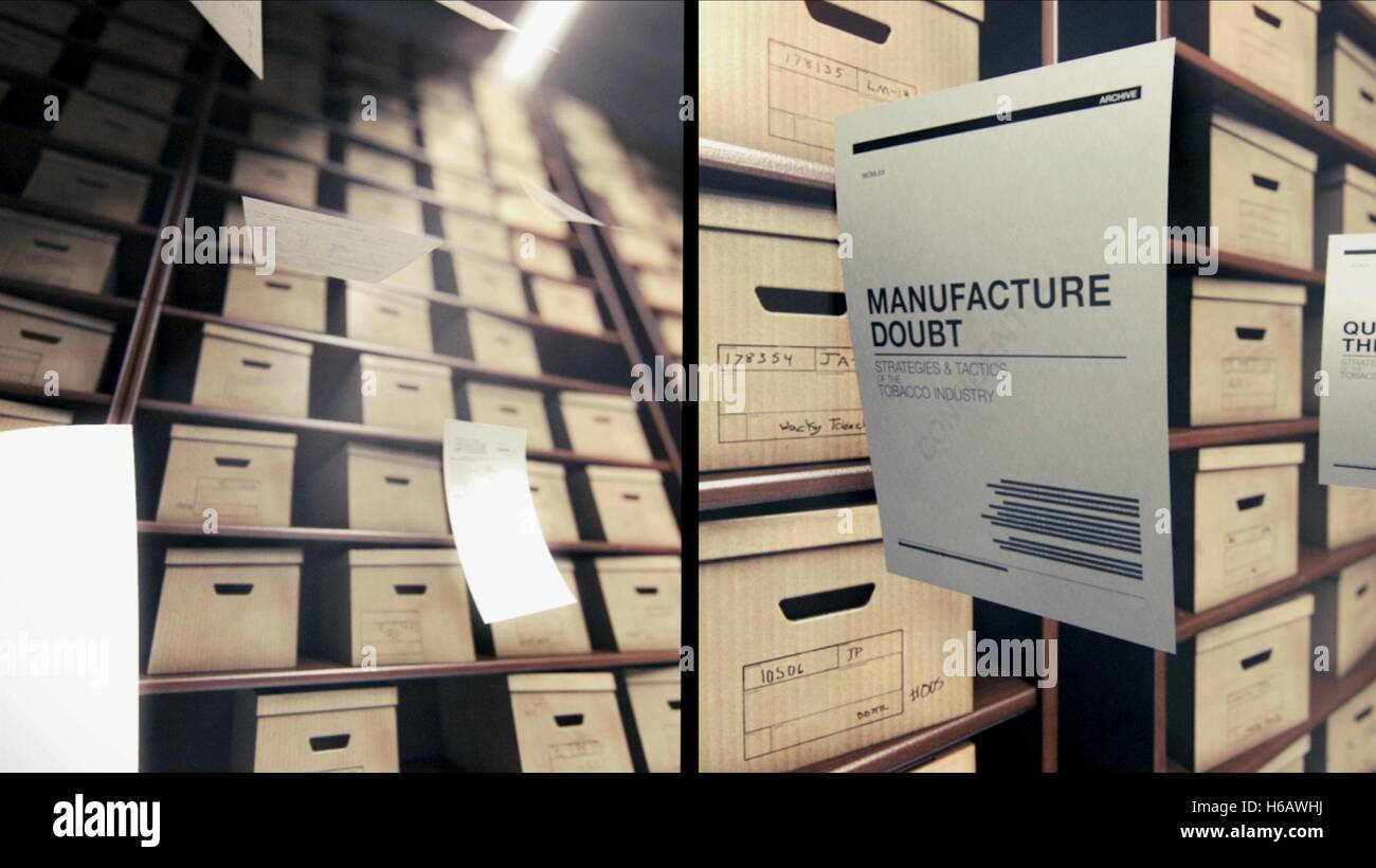 BOXES OF FILES MERCHANTS OF DOUBT (2014) - Stock Image