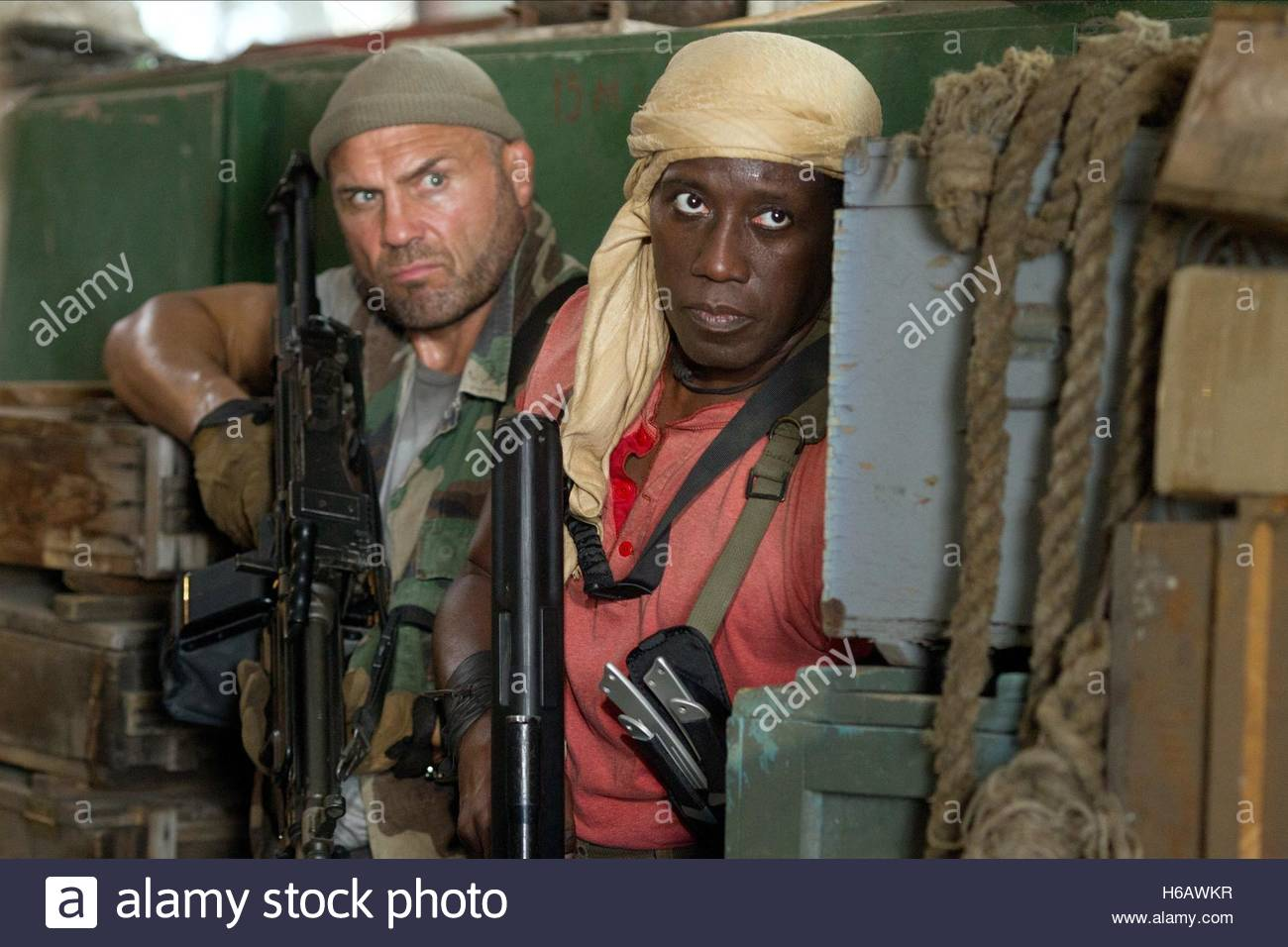 RANDY COUTURE & WESLEY SNIPES THE EXPENDABLES 3 (2014) - Stock Image