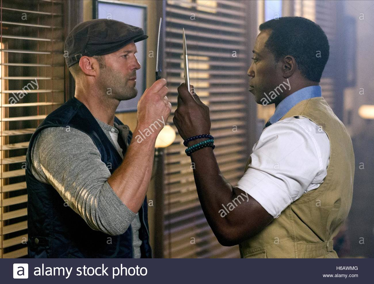 6362c7389f JASON STATHAM   WESLEY SNIPES THE EXPENDABLES 3 (2014 Stock Photo ...
