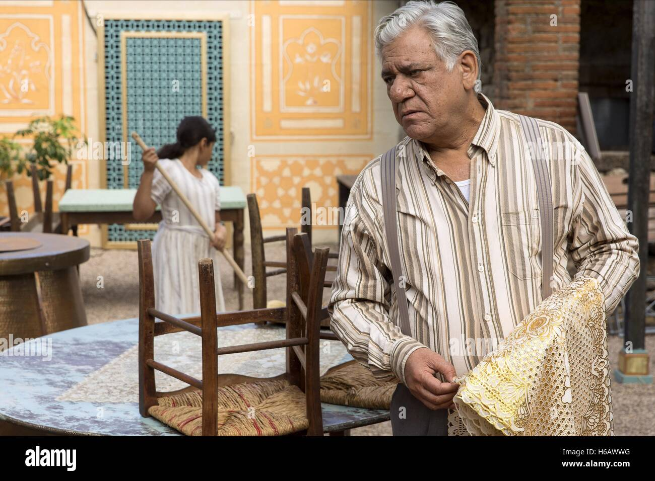 OM PURI THE HUNDRED-FOOT JOURNEY (2014) - Stock Image