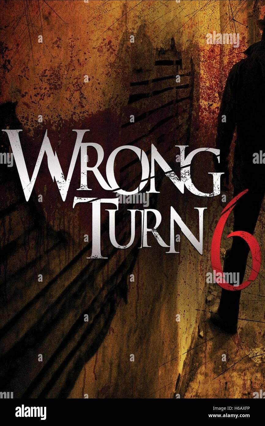 Movie Poster Wrong Turn 6 Last Resort 2014 Stock Image