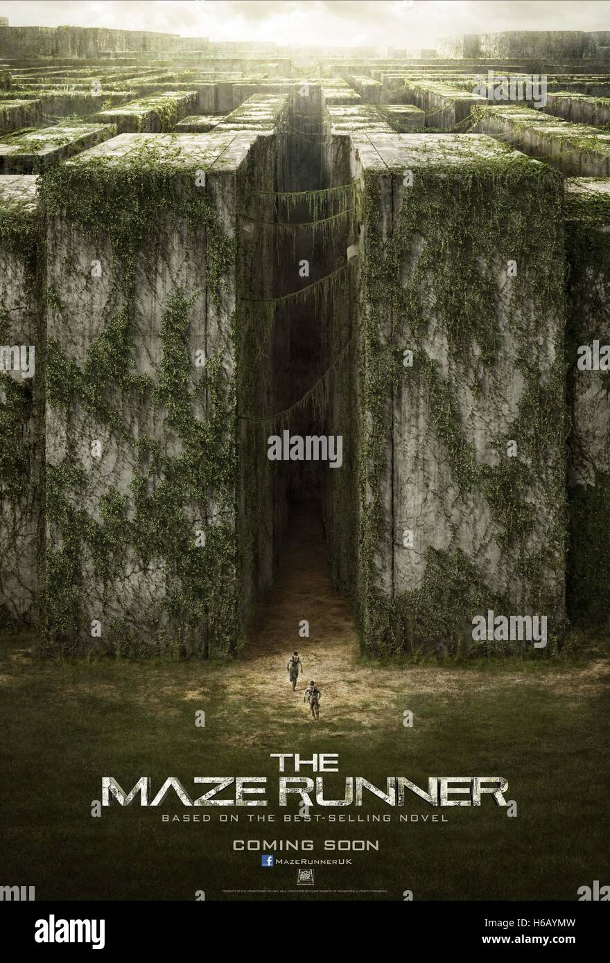 THE MAZE WALL POSTER THE MAZE RUNNER (2014) - Stock Image
