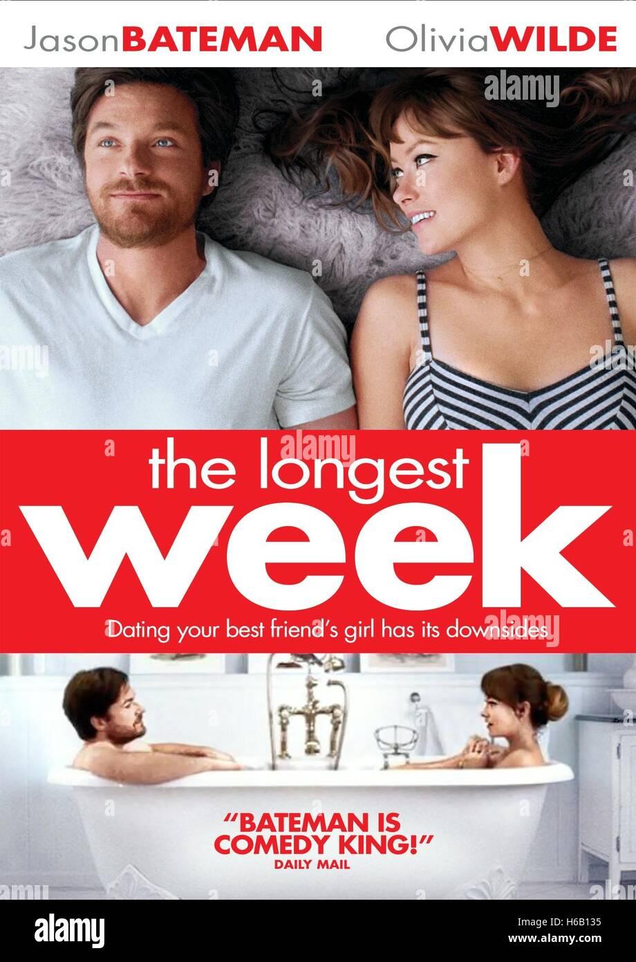 JASON BATEMAN & OLIVIA WILDE POSTER THE LONGEST WEEK (2014) - Stock Image